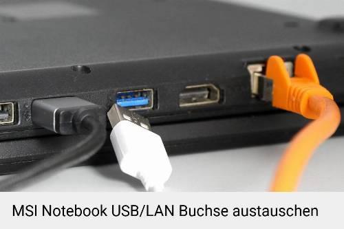 MSI Laptop USB/LAN Buchse-Reparatur