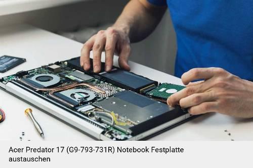 Acer Predator 17 (G9-793-731R) Laptop SSD/Festplatten Reparatur