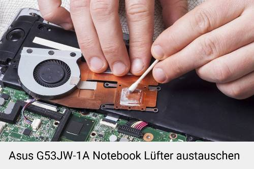 Asus G53JW-1A Lüfter Laptop Deckel Reparatur