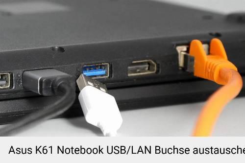 Asus K61 Laptop USB/LAN Buchse-Reparatur