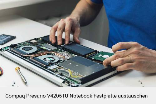 Compaq Presario V4205TU Laptop SSD/Festplatten Reparatur
