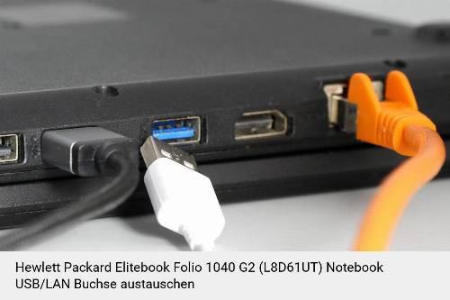 Hewlett Packard Elitebook Folio 1040 G2 (L8D61UT) Laptop USB/LAN Buchse-Reparatur