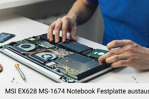MSI EX628 MS-1674 Laptop SSD/Festplatten Reparatur