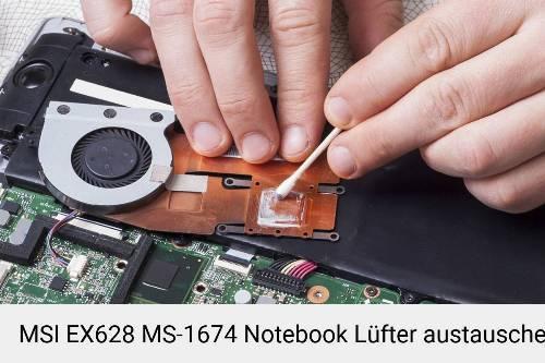MSI EX628 MS-1674 Lüfter Laptop Deckel Reparatur