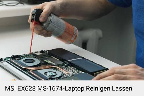 MSI EX628 MS-1674 Laptop Innenreinigung Tastatur Lüfter