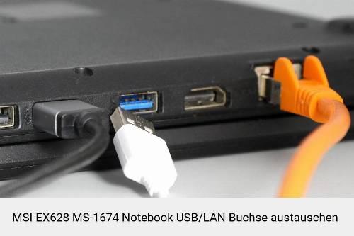 MSI EX628 MS-1674 Laptop USB/LAN Buchse-Reparatur