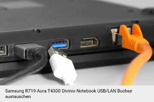 Samsung R719-Aura T4300 Divinio Laptop USB/LAN Buchse-Reparatur