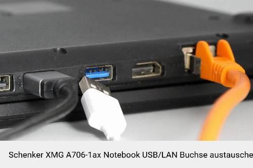 Schenker XMG A706-1ax Laptop USB/LAN Buchse-Reparatur