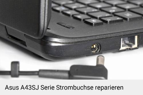 Netzteilbuchse Asus A43SJ Serie Notebook-Reparatur