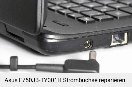 Netzteilbuchse Asus F750JB-TY001H Notebook-Reparatur