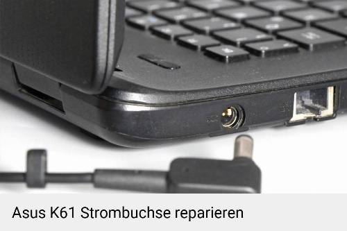 Netzteilbuchse Asus K61 Notebook-Reparatur
