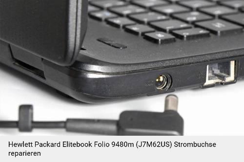 Netzteilbuchse Hewlett Packard Elitebook Folio 9480m (J7M62US) Notebook-Reparatur