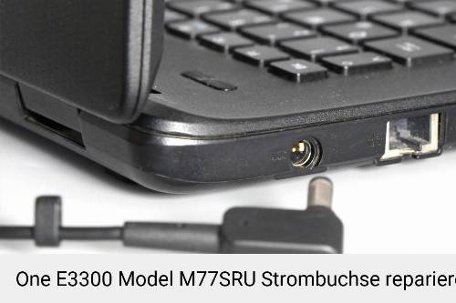 Netzteilbuchse One E3300 Model M77SRU Notebook-Reparatur