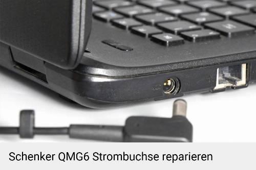 Netzteilbuchse Schenker QMG6 Notebook-Reparatur