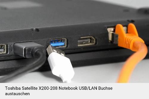 Toshiba Satellite X200-208 Laptop USB/LAN Buchse-Reparatur